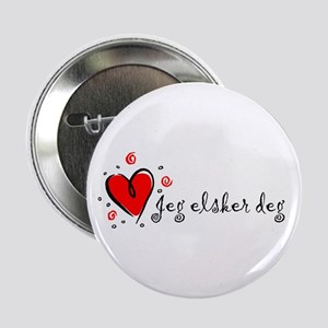 """I Love You"" [Norwegian] Button"